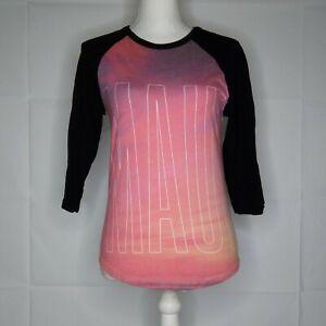 Aeropostale Maui Top Women Size XS Pink 3/4 Sleeve