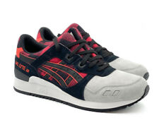 Asics Gel Lyte III 3 Black Red H6Y0L 2490 Multiple Sizes New