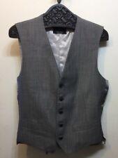 Zara Man Vest Suiting Grey Medium 5 Button Silk Wool Blend