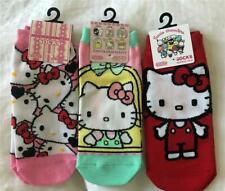 New With Tags 3 Pair SANRIO HELLO KITTY SOCKS Imported from JAPAN