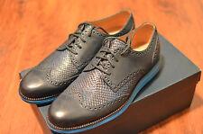 [NIB] US Sz 9 Men's cole haan Lunargrand wingtip dress shoes brazer blue DS