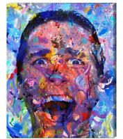 American Psycho Art Canvas Painting or Print Abstract Christian Bale Film Movie