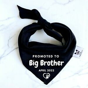 Pregnancy Announcement Dog Cat Bandana - Promoted to Big Brother - Baby Reveal