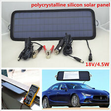 18V/4.5W Polycrystalline Silicon Solar Panel Car Battery Charger For CarVan Boat
