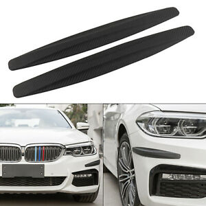 "2x ""Carbon Fiber"" Front Rear Bumper Corner Extended Protector Guards for BMW"