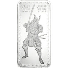 10 oz. Golden State Mint Silver Bar Samurai .999 Fine