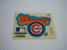 1979 FLEER BASEBALL CHICAGO CUBS LOGO STICKER***GRAND SLAM HI-GLOSS***
