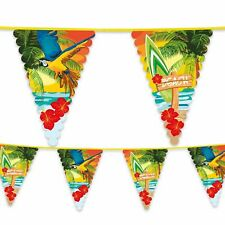 Hawaiian Luau Surf Beach Parrot Flag Bunting Garland Party Banner Decoration