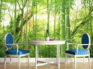 Bamboo Forest  Photo Wallpaper Wall Mural DECOR Paper Poster Free Glue