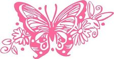 """BUTTERFLY Vinyl Decal Sticker-6"""" Wide White Color"""