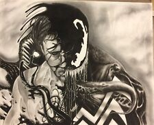 Venom Marvel Art Sketch 14X17 NOT A PRINT By Arsenio Echevarria