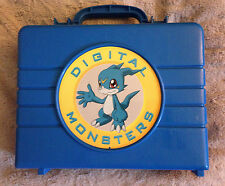 Rare Digimon Digital Monsters Action Figure Carry Case Blue Veemon Flamedramon