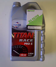 Fuchs Titan Pro-S Aceite de Motor 5W40 + HAMP FILTRO DE ACEITE-HONDA B16 B18 K20 K24 H22