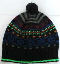 Paul Smith Gorro De Lana Gris Azul Negro