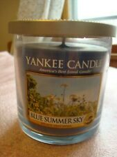 YANKEE CANDLE BLUE SUMMER SKY  TUMBLER  CANDLE  7OZ   ~NEW~
