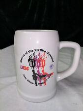 Vintage Olympic Games Beer Mug Cup 1984 LA Torch Run XXIII 23rd Olympiad
