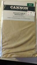 Cannon Solid Adjustable Bedskirt Bed Skirt  Twin/Full  - KHAKI