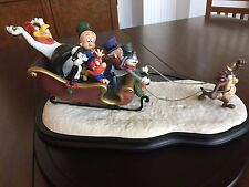 "Looney Tunes ""Laughing All the Way"" Sleigh Figurine Rare Collectible 315/1200"