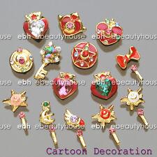 20 Pcs Sailor Moon Decoration With Stick 3D DIY Nail Art Rhinestone  #E1087