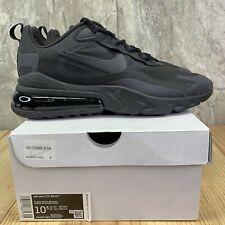 Nike Air Max 270 React Size 10.5 Mens Triple Black Oil Grey Shoes
