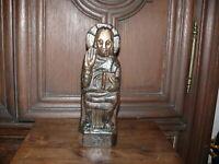 über 100 Jahre alte Holzfigur Apostel Figur mit Buch Philippus massiv Holz