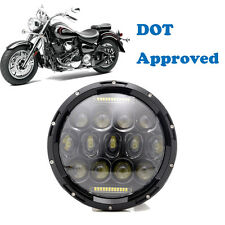 7 Inch Daymaker Replacement Projector LED Headlight Harley Yamaha Road Star