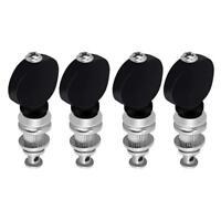 4x Black Adjustable Ukelele Tuning Machine Heads Tuner Pegs Pins for Ukulele Peg