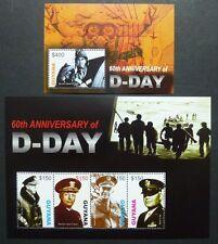 Guyana 2004 D-Day 2. Weltkrieg Generäle Normandie World War 7702-05 Block 776