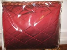 Isabella collection MARIA CHRISTINA Red Silk Diamond Stitch Queen Coverlet $1500