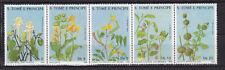 Sao Tome and Principe : Medicinal Plants ( 5 v. ) 1988 MNH