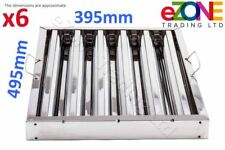 More details for 6x canopy grease baffle filter stainless steel kitchen extraction hood 495x395mm