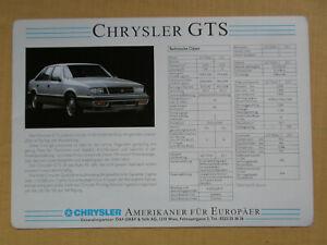043 Prospektblatt CHRYSLER GTS