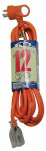 Conntek  Extension Cord  16/3 SJT  12 ft. L Orange