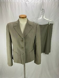 Calvin Klein Women's Tan Skirt Suit 8