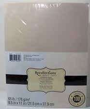 """Recollections Cardstock Paper 8 1/2"""" x 11"""" 100 Sheets Silver & Champagne Shimmer"""