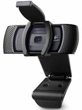 Logitech B910 HD 1080P Carl Zeiss Tessar WEBCAM USB CON MICROFONO & Clip On