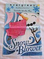 Evergreen SNOW BLOWER WINTER Garden Flag 12.5 x 18  NEW