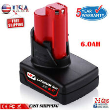 For Milwaukee M12 Lithium Xc 6.0 Extended Capacity Cordless Battery 48-11-2460