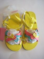 Gymboree HAPPY RAINBOW Girl Yellow Flower Sandals Shoes Size 11 NWT - Summer