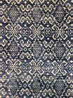 Terrific Transitional - Vintage Khotan Design - Muted Blue Indian Rug 8 x 10 ft