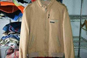 Members Only Cafe Racer vtg 80% Wool Jacket Coat Size 42