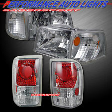 93-97 FORD RANGER EURO CLEAR STYLE HEADLIGHTS + CORNER + TAIL LIGHTS 6PCS COMBO