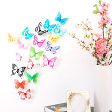 18pcs Decal Art Design Wall Stickers Home Decorations 3D Butterfly Rainbow DIY