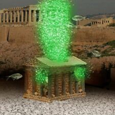 Greek Temple Ornament Air Pump LED Bubble Maker, Aquarium Decoration