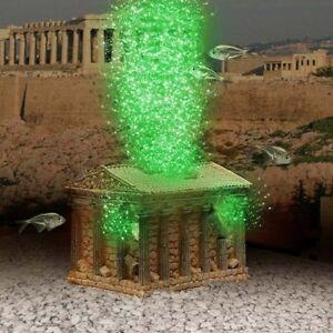 Greek Temple Ornament Air Pump LED Bubble Maker, Aquarium Decoration
