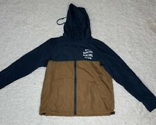 AntiSocialSocialClub Windbreaker Extra Small Brown And Blue