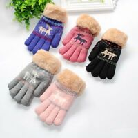 Toddler Baby Winter Cute Thicken Christmas Full Finger Mittens Warm Gloves SALE