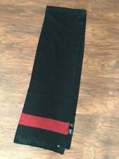 new HUGO BOSS men's SCARF super soft winter wear MADE in ITALY black red