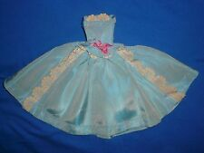 Stunning Vintage Barbie Size Ballgown Dress ~ Pale Blue Shot Fabric~Doll not Inc