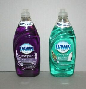 Dawn Ultra Escapes Dishwashing Liquid Mediterranean Lavender New Zealand Springs